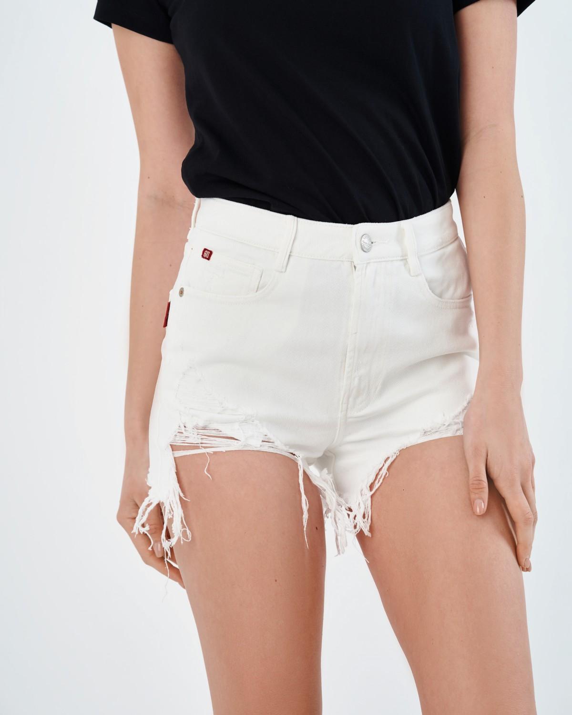 Белые джинсовые шорты Miss Sixty