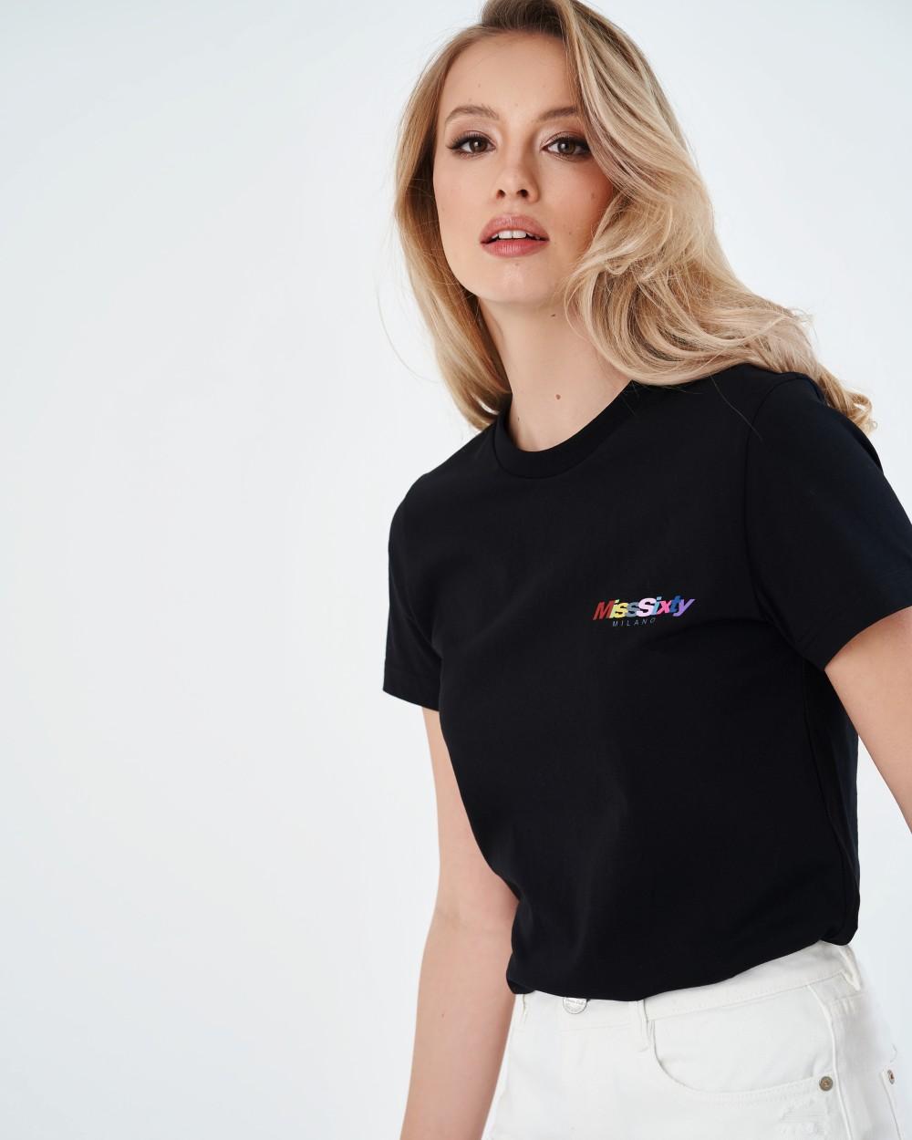 Черная футболка Miss Sixty Milano
