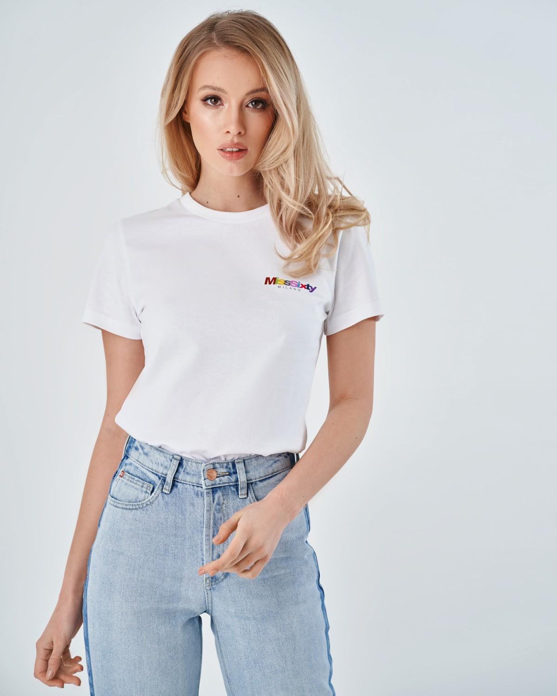 Белая футболка Miss Sixty Milano