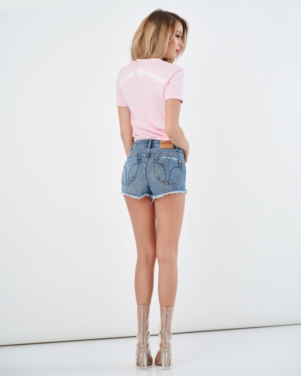 Розовая футболка Love Triangel Miss Sixty