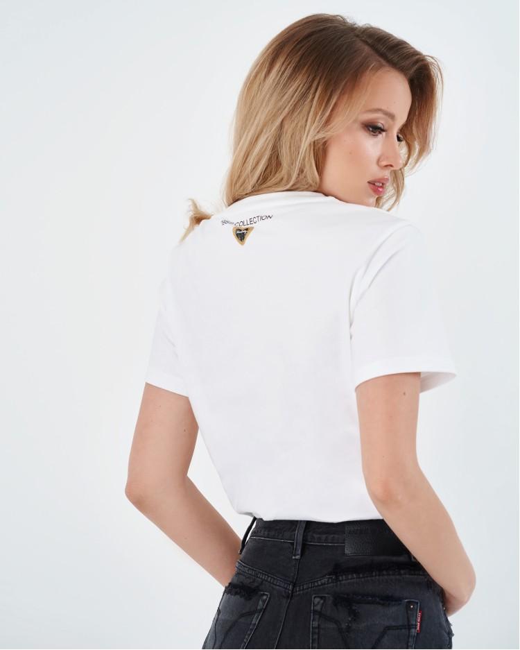 Белая футболка For lover Miss Sixty