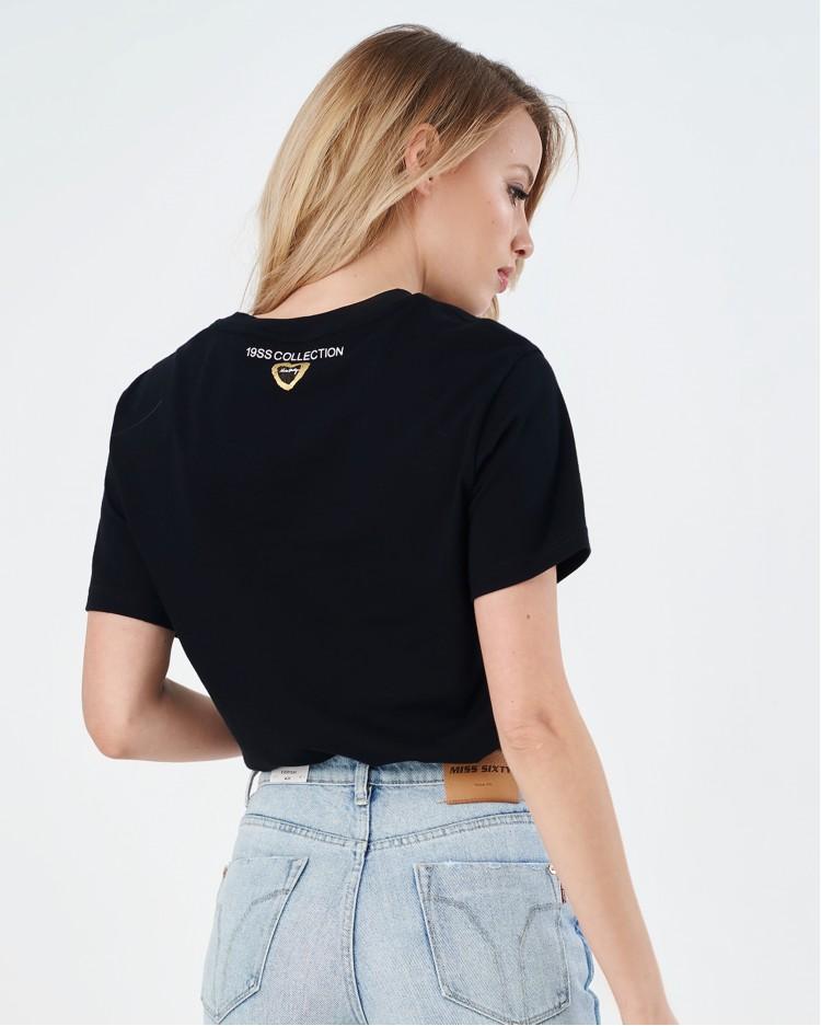 Черная футболка For lover Miss Sixty