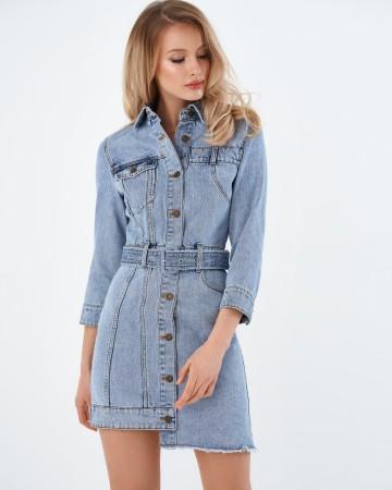 Джинсовое платье на пуговицах Miss Sixty